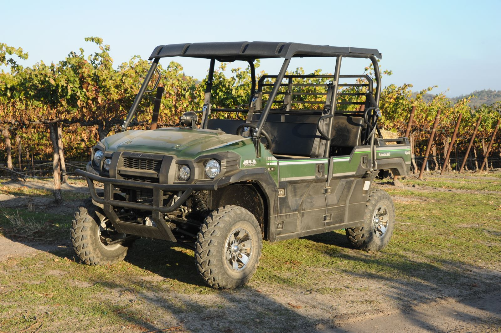 kawasaki mule pro-fxt: mixing play with work   dirt toys magazine