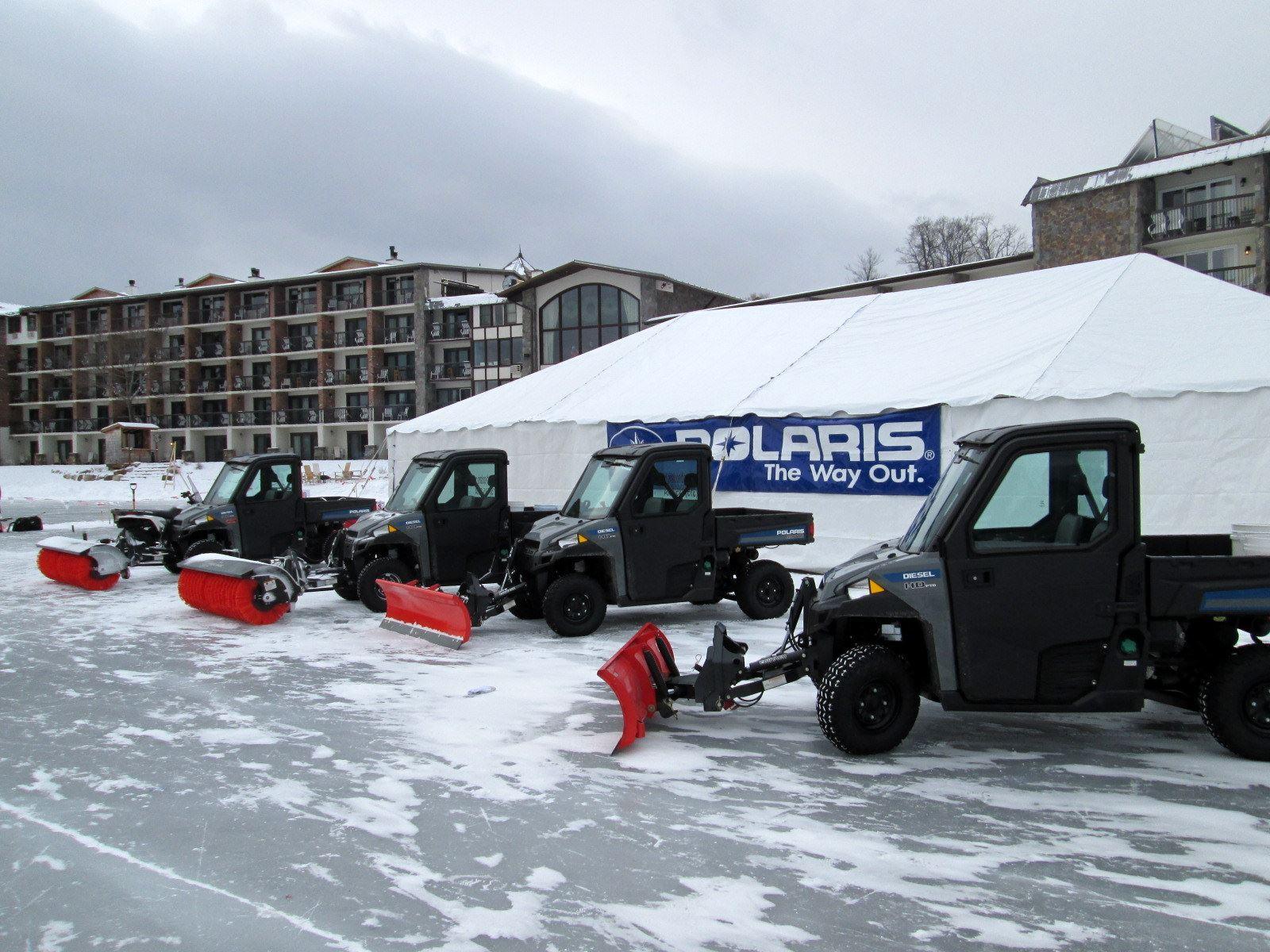 Polaris Brutus Boosts Operation Of Pond Hockey Tournament