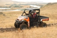 Media intro of the 2013 Polaris Ranger 900 XP near Great Falls, MT, in August.