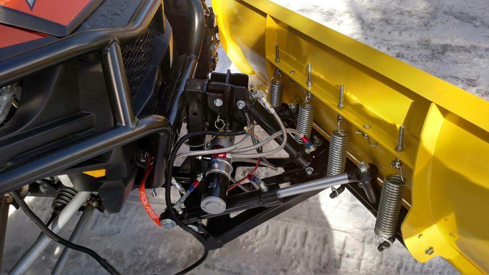 Wicked Bilt Plow Install Hydraulic Moves Plenty Of Snow Dirt Wiring Diagram Besides Polaris 2014 Rzr 900 On Winch Toys Magazine